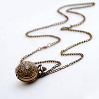 Nuevo reloj de bolsillo de bolsillo Qixia Collar de cuarzo accesorios vintage al por mayor coreano suéter cadena mesa de moda estudiantes colgar reloj