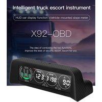 GPS HUD Head-up Display Temperatura dell'acqua Tachimetro Allarme OversPeed Display orizzontale orizzontale per il camion H091