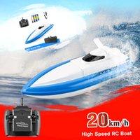 800 barche di controllo remoto 2.4g 20 km / h ad alta velocità di alta qualità rc barca rc giocattolo regalo per bambini adulti ragazzi ragazze con borsa 3 batteria