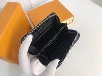 Kabartmalı Deri Zippy Sikke Çanta 60067 Bayan Çiçek Kompakt Zip Çevresinde Cüzdan Kart Tutucu Kılıf Mini Pochette Accessoires Anahtar Kılıfı