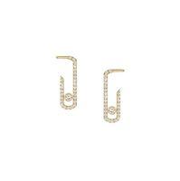 Punk Rock Pure Crystal CZ muovi gioielli zirconi gioielli di moda gioielli sterling sterling pavé a orecchini di goccia nuovi orecchini di design per le donne