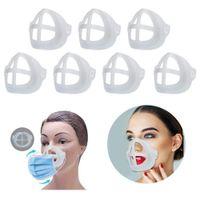 Маска кронштейн PP 3D Face Mask Внутренняя опорная рама Удобная Дыхательные моющийся многоразовые 5шт / уп Четкие маски кронштейн