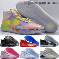 Tamanho dos EUA EUR Trainers Tripler Black Homens Mulheres 13 47 38 Sapatos de Basquete 46 Esportes Senhoras Sapatilhas Brancas Durant XII KD12 Kevin 12 Kd Enfant