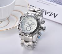 Invicta moda luxo homens relógio de quartzo calendário impermeável multifuncional relógios de aço inoxidável Reloj de hombre