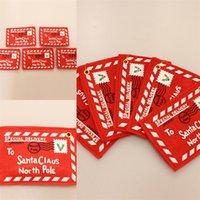 Рождественские украшения площади Конверт Оригинальность дерева подвеска подарки украшения Санта-Клаус Red Card пробный заказ 0 8kc F2