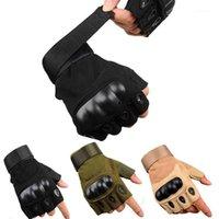 موتو التكتيكية المضادة للانزلاق قفازات سوداء نصف اصبع الرجال النساء الجيش paintball الرياضة القتال ركوب الصالة الرياضية الدراجات tacticos1