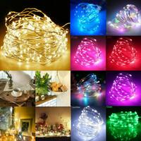 1 M 2 M 3 M 5 M 10 M LED Dize Peri Işıkları Pil Kumandalı Bakır Tel Chirtmas Parti Düğün Dekorasyon