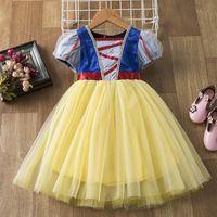 Bambino Dress Bambina Bambini Principessa Abiti Estate Fumetto Bambini Bambini Principessa Dress Abito Casual Vestiti Casual Bambino Viaggio Bancles Costume del partito