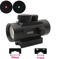 Olographic 1x40 Red Dot Sight Airsoft Rosso Green Dot Sight Scope Caccia Scope 11mm 20mm Rail Mount Collimator Sight