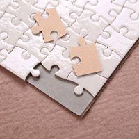 Süblimasyon Bulmaca A5 Boyutu DIY Ürünleri Süblimasyon Boşlukları Bulmacalar Beyaz Yapboz 80 adet Isı Baskı Transferi El Yapımı Hediye YFA2694