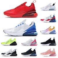 Wholsale جديد 27C العدائين أحذية رياضية رجل إمرأة الثلاثي أسود أبيض وردي المدربين أزياء الرجال النساء 270s الاحذية