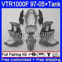 Körper + Tank für Honda Superhawk Grau Schwarz Heiß VTR1000F 97 98 02 03 04 05 56HM.91 VTR1000 F VTR 1000 F 1000F 1997 2002 2003 2004 2005 Verkleidung