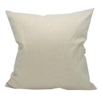 Dünne leere Sublimation Kissenbezüge Großhandel beige 100% Polyester wie Leinenkissenbezüge, die für den Wärmeherrtransferdruck verwendet werden