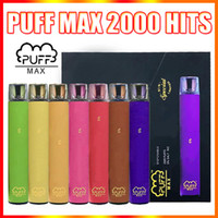 Puff Max Vape Vape Pen E Dispositivo de cigarrillo 1200mAh Batería Blm Special Limited 8.5ML POD 2000 Puffs Vapor vs Air Bar Plus Stick