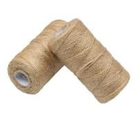100m natural de yute guita de la arpillera de cuerda de cáñamo cuerda del banquete de boda del embalaje de regalo Cordones Thread DIY Scrapbooking Floristerías Craft Decoración