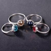 acoplamento anéis anel de cobre azul areia de pedra banhado a prata
