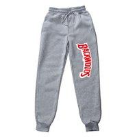 Pantalon Erkek Pantolon Pamuk Sonbahar Kış Gri Rahat Komik Backwoods Baskılı Erkekler Joggers Sweatpants Artı Boyutu Siyah Pantolon F1225