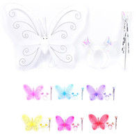 New Multi Colors Princess Girl Kids Lovely Butterfly Wing Wa...