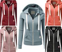 5Colour S-XL 여성 일반 우편 업 플리스 후디 여성 스포츠 운동복 코트 자켓 탑 후드 26569430438071