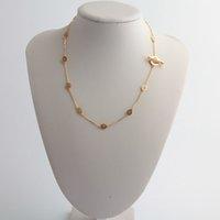 Новый подарок Real Gold / Real 18K Gold Silver / розовое покрытие полное хрустальное кулон ожерелье длинный Chian Brand подарок