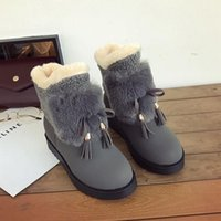 Women Boots 2020 Winter Shoes Woman Snow Boots Large Plush I...