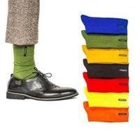 Еженедельные носки мужские хлопковые сплошные мужские счастливый носки платье повседневные мальчики мода конфеты цвета 7 дней неделя бесплатная доставка1