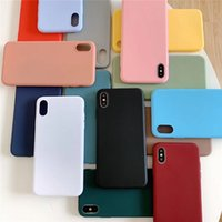 Şeker Renk Mat Durumlarda Yumuşak TPU Kapak iphone 12 11 Pro Max XS XR X 6 7 8 Artı Galaxy S10 S20 Not 10 A10S A71 100 adet / grup