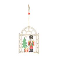 Новогоднее украшение деревянный орех солдат кулон украшения творческий окно кулон Рождественская елка кулон GGE2140
