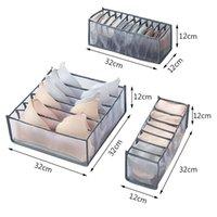 Soutien-gorge Boîtes de rangement Sous-vêtements Vêtements Organisateur Tiroir Nylon Diviseur Placard Organisateur Pliable 6/7/11 Grids Séparée Organisateur tiroir HHA2173