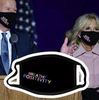Máscara de cara Diseño Presidencial Biden Harris 2020 Negro Unisex Mask Reutilizable New Biden Harris 2020 Máscaras lavables KKA8280