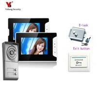 Video-Door-Telefone Yobang Security 7inch Building Intercom-System Türklingelvilla mit hochauflösender Kamera elektrische Sperre