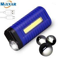 ZK25 portátil USB COB LED linternas recargable Super brillante Bright Handheld Torch 2 Modos Camping Lámpara de trabajo Light1