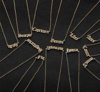 Collier Zodiac Constellation Collier Zodiac Constellation personnalisée en acier inoxydable Ancien Collier Anglaise Bijoux Anniversaire Cadeaux