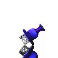 Cyclone Spinning Glass Casquette en verre Casquette en verre pour Dome de Banger plat de 25mm avec trou de rotation TERP Perle Perle Quartz Banger Nail