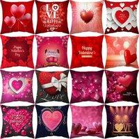 أحمر أريكة وسادة عيد الحب يوم زينة الحب الإبداعية وسادة الخوخ الجلد وسادة وسادة عيد الحب هدايا يوم XD24426