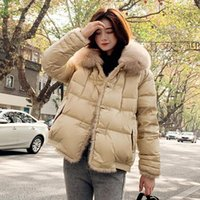 FitAylor Women Abrigo 90% pato de pato chaqueta de piel de piel real chaqueta con capucha elegante femenino grueso botón cálido pato abajo Outwear1