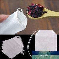 Teebags 5.5x7cm Comida Grau Vazio Scented Tea Bags Infuser com String Cure Selo Filtro Papel para Herb Solto Chá Bolsas de Te