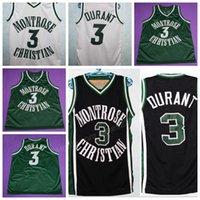 Cheap Custom Retro MONTROSE CHRISTIAN # 3 K. DURANT Basketball Jersey Männer Alle genähtes irgendeine Größe 2XS-3XL 4XL 5XL Name oder Nummer Kostenloser Versand