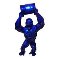 """Big 16 """"King Kong Kreative Dekoration Kunst Handwerk Tier Simulation Harz Statue Gorilla Bust Figure Sammeln Modell Spielzeugkiste 201125"""