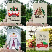 Новогоднее украшение сада Флаг Рождество Гномы Cute Dwarf Theme Flag Для Открытый Yard Украшение 15 Стили ВЫБРАТЬ HH9-3384