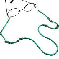 Yeni Moda Turkuaz Gözlükler Zinciri Plastik Boncuklu Gözlük Bağlantı Yeşil Güneş Zincir 75cm 12pcs / lot Toptan