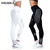 Hibubble noite brilhante esportes calças fitness leggings mulheres esporte rápido seco seco calças calças justas leggings fitness t200601