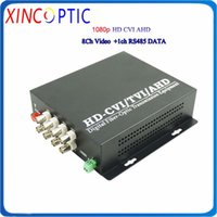 광섬유 장비 8CH HD CVI / TVI / AHD to 비디오 변환기 1080P, SM, SX, 20km, FC, 8Channel 고화질 CCTV 전송