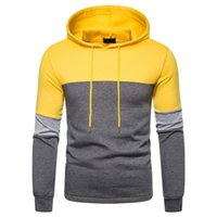 Adisputer Autumn Autumn Men New Stitching Due Tone Hooded Uomo Casual Stili multipli Stili Skirthirt 6 colori Asian Size S-2XL1