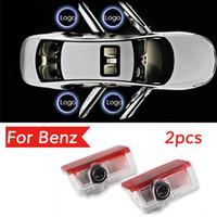 Lumière de porte de voiture LED pour Mercedes Benz E Classe W212 M W166 ML Laser Projecteur Laser Emblème Ghost Shat Shost Lampe Accessoires Lumières Bienvenue Lumière