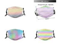 الباستيل الوردي الشعبية فاخر مصمم شخصي مخصص أقنعة الوجه PM2.5 أزياء العلامة التجارية قناع نمط قابلة لإعادة الاستخدام قابل للغسل قابل للتعديل