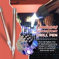 أدوات الخياطة المفاهيم 5 قطع الصمام الماس اللوحة الحفر القلم مضيئة نقطة الإضاءة عبر الابره لوازم ديي في المخزون