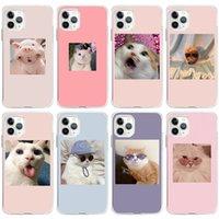 아이폰 12 전화 케이스 아이폰 (12) (11) 미니 프로 맥스 만화 귀여운 동물 고양이 쉘 휴대 Moblie 전화 케이스 커버