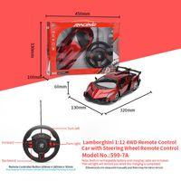4-канальный 1:12 4WD колесо дистанционного управления автомобиль игрушка с управлением PLA модель рулевого управления RC спортивные дистанционные управления игрушками детские игрушечные подарки украшения автомобиль BLKR