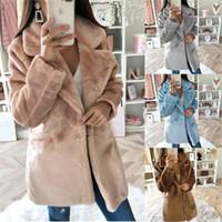 Elegan Faux Fur Coat Women 2020 Autumn Winter Warm Soft Fur Jacket Female Plush Overcoat Casual Teddy Outwear
